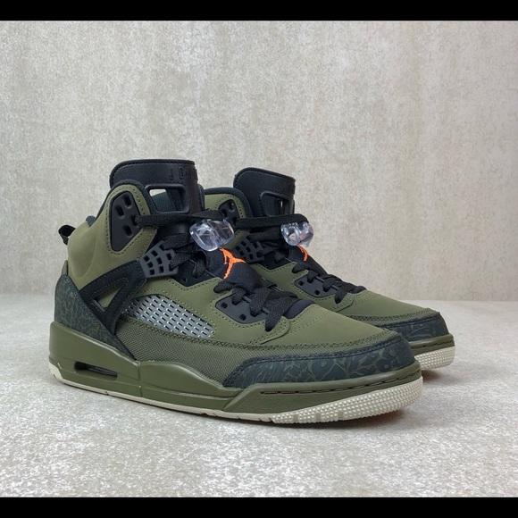 Nike Other - New Jordan Spizike Olive Green Canvas Cone Black